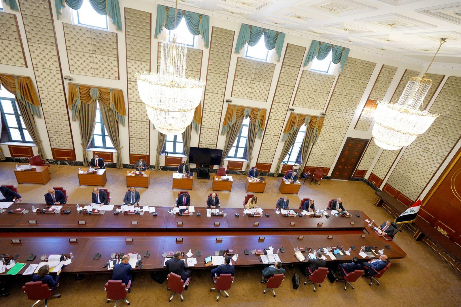 مجلس الوزراء يعقد جلسته الاعتيادية الأربعين برئاسة رئيس مجلس الوزراء السيد مصطفى الكاظم
