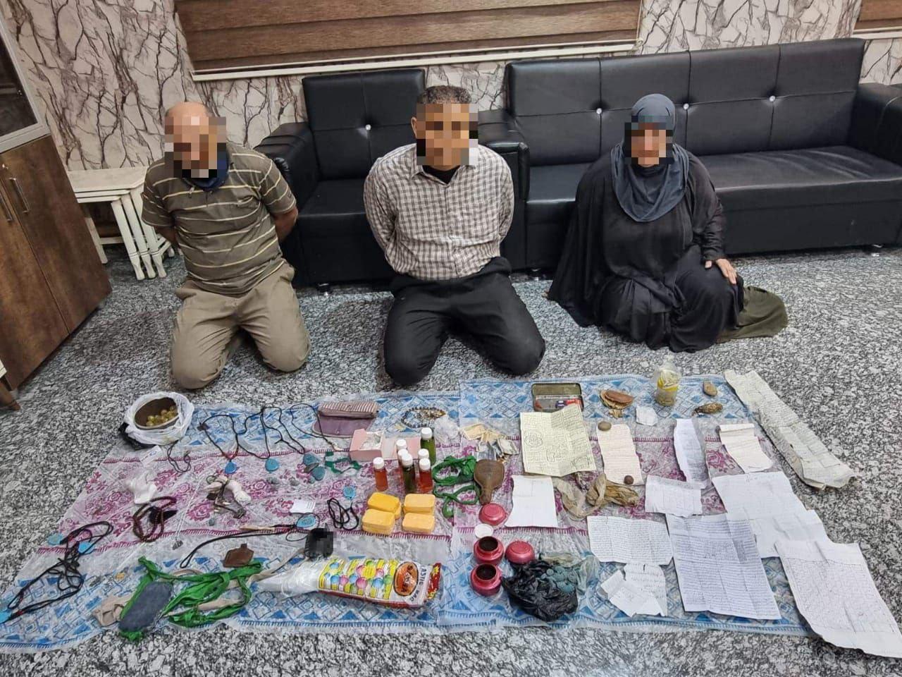 شرطة نينوى تلقي القبض على مشعوذين يقومون باعمال منافية للأخلاق